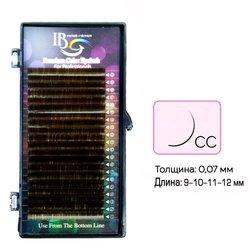 Ресницы I-Beauty mix шоколад CС 0.07 - 9-10-11-12 мм