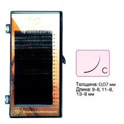 Ресницы I-Beauty mix на ленте C 0.07 - 9-6, 11-8, 13-6 мм