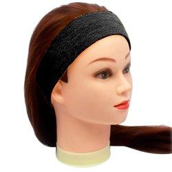 Повязка для волос YRE, сплошная - черная, 1 шт