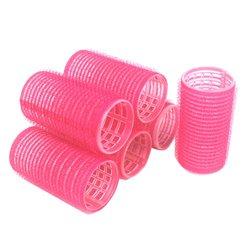 Бигуди липучки YRE 35 мм розовый 6 шт
