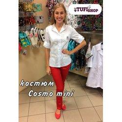 """Медицинский костюм """"Cosmo red"""", бело-красный"""