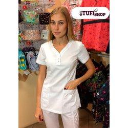"Медицинский костюм ""Тори white"", белый"