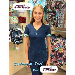 "Медицинский костюм ""Tori"", темно-синий"