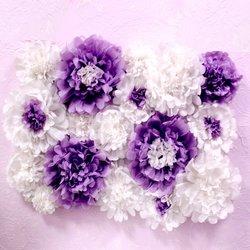 Цветы из бумаги 1м2 (цвет на выбор)