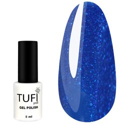 Гель-лак TUFI Profi №168 - синий с микроблеском, 8 мл