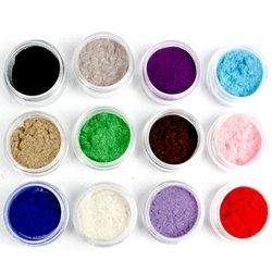 Замш для декора ногтей набор 12 цветов
