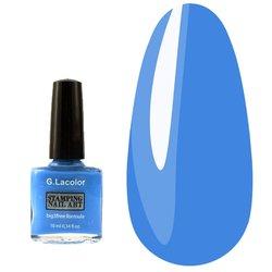 Лак G. Lacolor для стемпинга 006 - синий, 10 мл