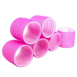 Бигуди липучки YRE 66 мм - розовый, 6 шт