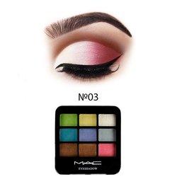 Набор теней МАС Eyeshadow 9 цветов №03