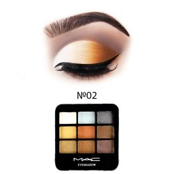 Набор теней МАС Eyeshadow 9 цветов №02