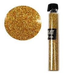 Декор песок в колбе STARLET золото голографик
