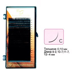 Ресницы I-Beauty mix на ленте C 0.1 - 9-2, 10-7, 11-7, 12-4 мм