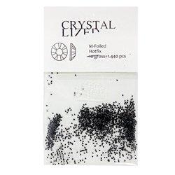 Хрустальная крошка YRE в упаковке - черный, 1440 шт