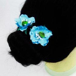 Цветок  маленький - голубой, 1 шт