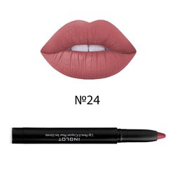 Помада-карандаш с точилкой Inglot AMC Lip Pencil Matte with Sharpener №24, 1,8 г