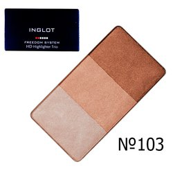 Хайлайтер Inglot Freedom System HD Highlighter Trio №103, 7 г