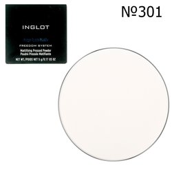 Матирующая пудра круглая Inglot Freedom System Mattifying Pressed Powder 3S Round №301, 9 г