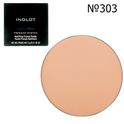 Матирующая пудра круглая Inglot Freedom System Mattifying Pressed Powder 3S Round №303, 9 г