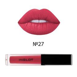 Матовая жидкая помада для губ Inglot HD Lip Tint Matte №27, 5,5 мл