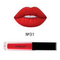 Матовая жидкая помада для губ Inglot HD Lip Tint Matte №31, 5,5 мл