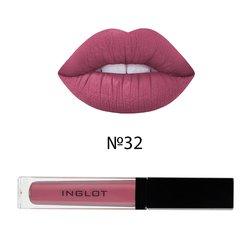 Матовая жидкая помада для губ Inglot HD Lip Tint Matte №32, 5,5 мл