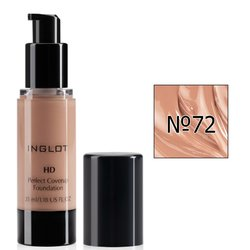 Тональный крем Inglot HD Perfect Coverup Foundation №72, 35 мл