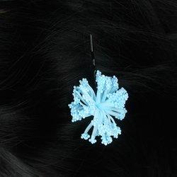 Невидимка цветок помпончик -  голубой, 1 шт