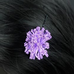 Невидимка цветок помпончик - фиолетовый, 1 шт