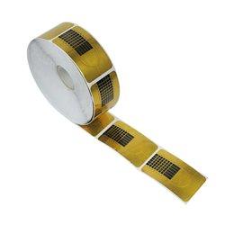 Форма для наращивания ногтей узкая - золото, 500 шт