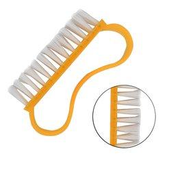 Щетка YRE для ногтей, волна ручка - оранжевый, большая