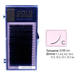 Ресницы Kodi С 0,05 (16 рядов: 7-1, 8-2, 9-2, 10-3,11-3, 12-3, 13-1, 14-1) Gold Standart (20066178)