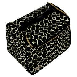 Сумка (чемодан) для мастера - черный с узором (8087)