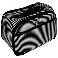 Сумка (чемодан) для мастера - черный в белую полоску (7921)