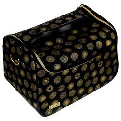 Сумка (чемодан) для мастера - черный с золотым узором (8119)