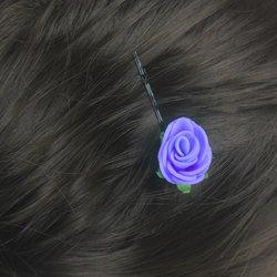 Невидимка, фоамиран цветок - фиолетовый, 2,5см, 1 шт