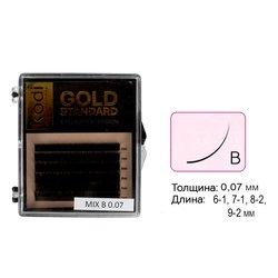 Ресницы Kodi В 0,07 (6 рядов: 6-1, 7-1, 8-2, 9-2) Gold Standart (20065089)