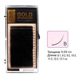 Ресницы Kodi В 0,03 (16 рядов: 6-1, 8-2, 9-2, 10-3,11-3, 12-3, 13-1) Gold Standart (20066116)