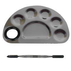 Палитра YRE металлическая с лопаткой, полукруг