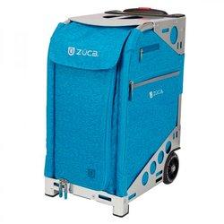 Сумка - чемодан для мастера ZUCA Pro Heather AquaSilver тканевая серебристо-бирюзовая, 49,5х25,5 см