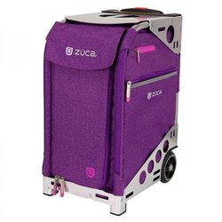 Сумка - чемодан для мастера ZUCA Pro Heather Plum/Silver тканевая серебристо-сливовая, 49,5х25,5 см