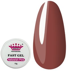 Акрил-гель - полигель Master Fast Gel - yellowish pink, 15 г