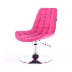 Косметический стул HR-590 (Польша) на диске - малиновый велюр