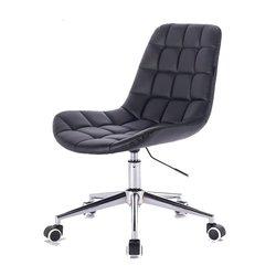 Косметический стул HR-590 (Польша) на колесиках - черный