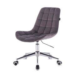Косметический стул HR-590 (Польша) на колесиках - графитовый велюр