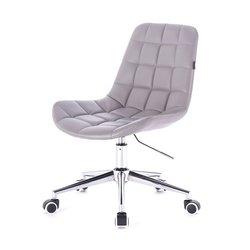 Косметический стул HR-590 (Польша) на колесиках - серый