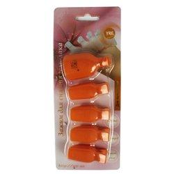 Зажим прищепка YRE для снятия гель-лака, для пальцев ног, оранжевый, 5 шт