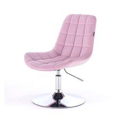 Косметический стул HR-590 (Польша) на диске - вереск велюр