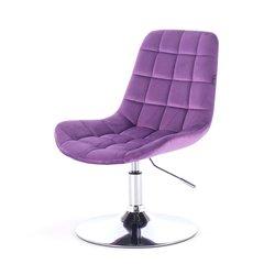 Косметический стул HR-590 (Польша) на диске - фиолетовый велюр
