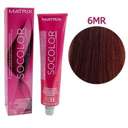 Краска для волос Matrix Socolor Beauty 6MR (темный блондин мокка красный), 90 мл