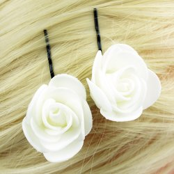 Невидимка, фоамиран цветок - белый, 2,5см, 1 шт